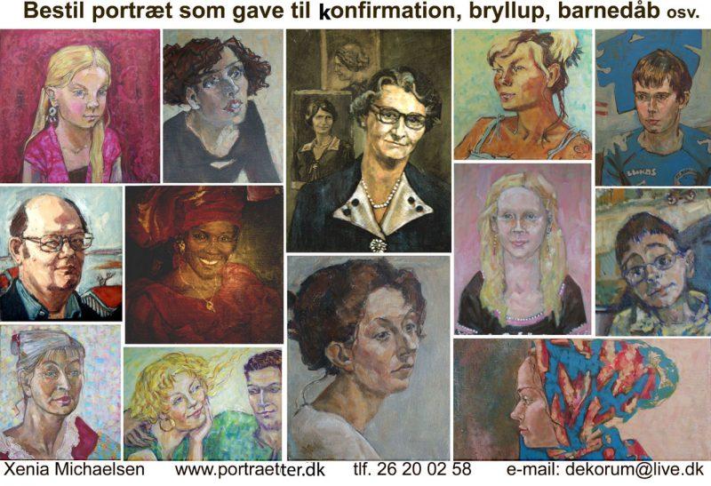 Portrætmaleri som gave til bryllyp, konfirmation, jubilæum osv