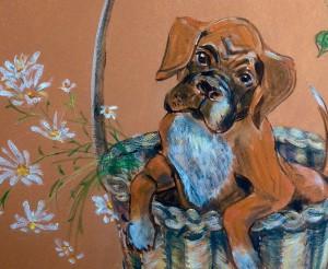 portrætmaleri som en unik kunstgave til bryllup, konfirmation, jubilæum osv. maleri af kæledyr