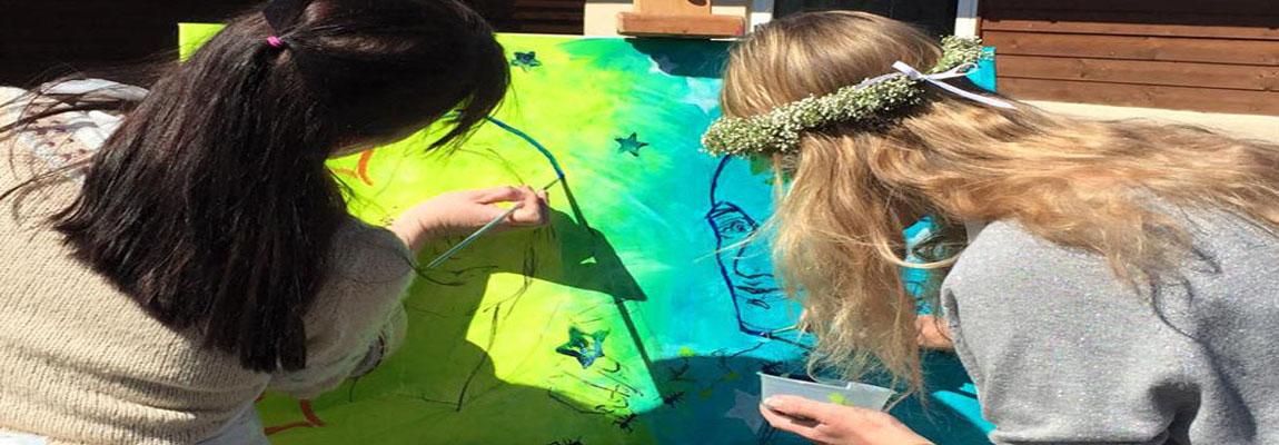 Kunstoplevelse til fester. Kreativ events