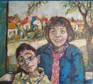 portrætmaleri af børn