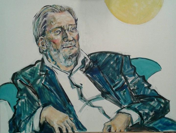 portrætmaleri af Waage Sandø DR1