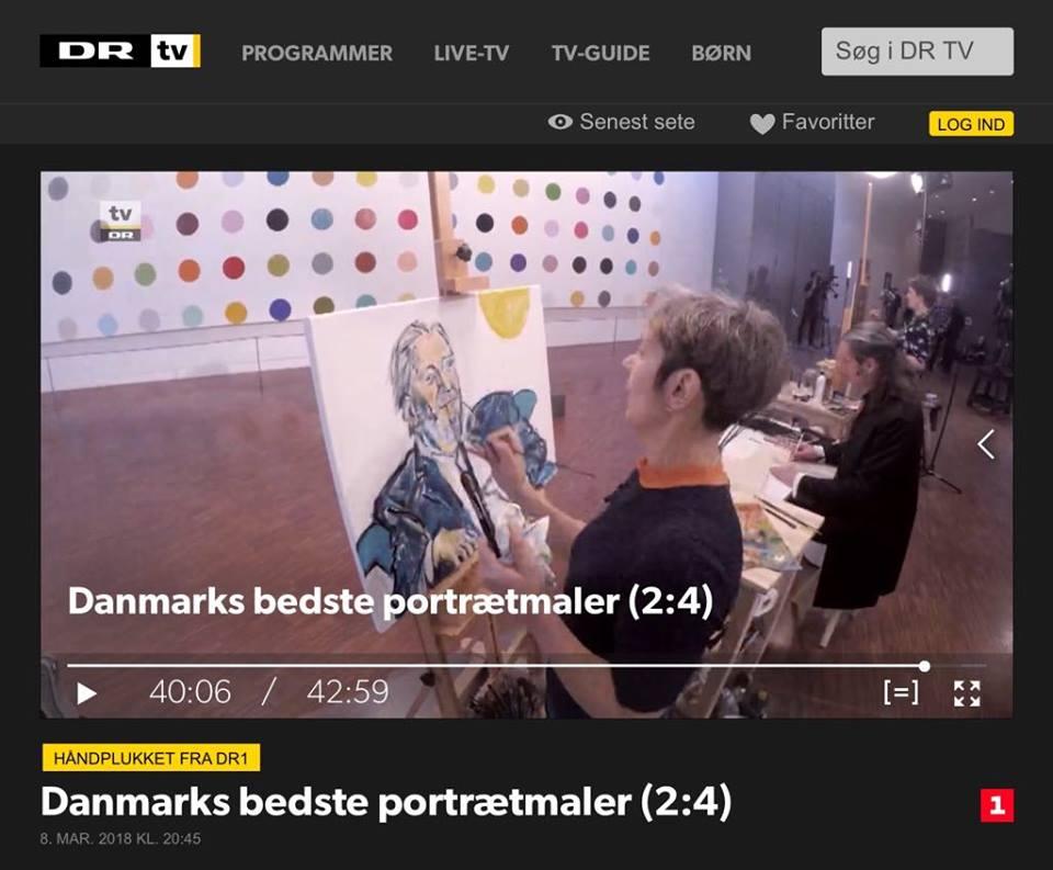 DR1 Danmarks bedste portrætmaler.
