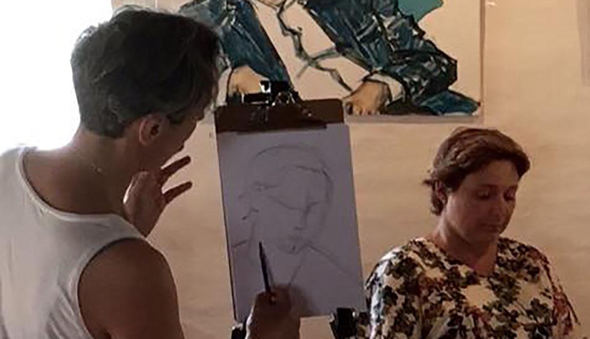 Portræt Masterklass portrætmaler Xenia Michaelsen